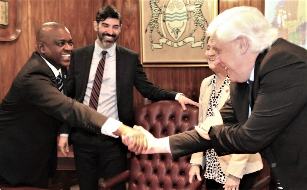 Meeting Botswana's President Masisi