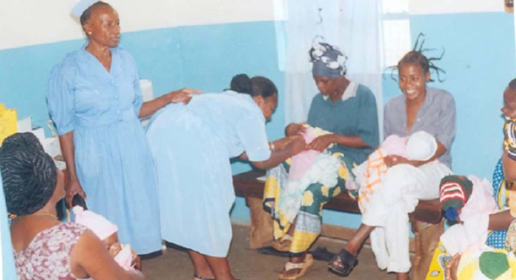 Mother-child clinic in Tanzania